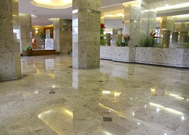 Restoration of marble floor at a Condo Lobby.