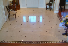 Protected Marble floor in residentail entrance,  Ottawa by Marble Restoration Services Ltd.
