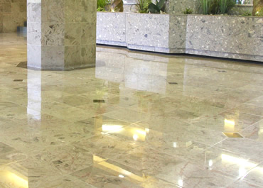 Restoration of Marble Floor in Condo Lobby