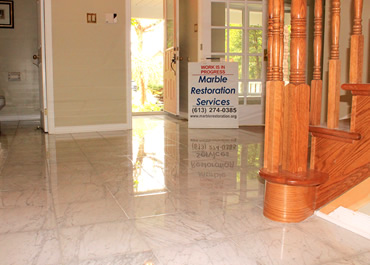 Refinishing Carrara Marble Floor