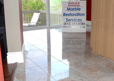Marble floor restoration in Orleans - Ottawa